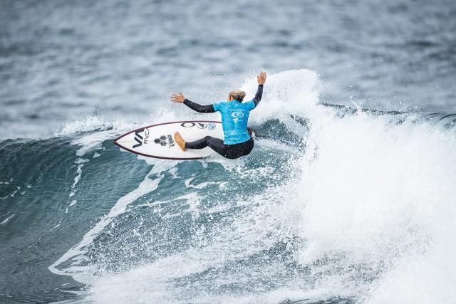 Sage Erickson está llamada a ser protagonista en el QS/10.000 femenino del ABANCA Galicia Classic Surf Pro
