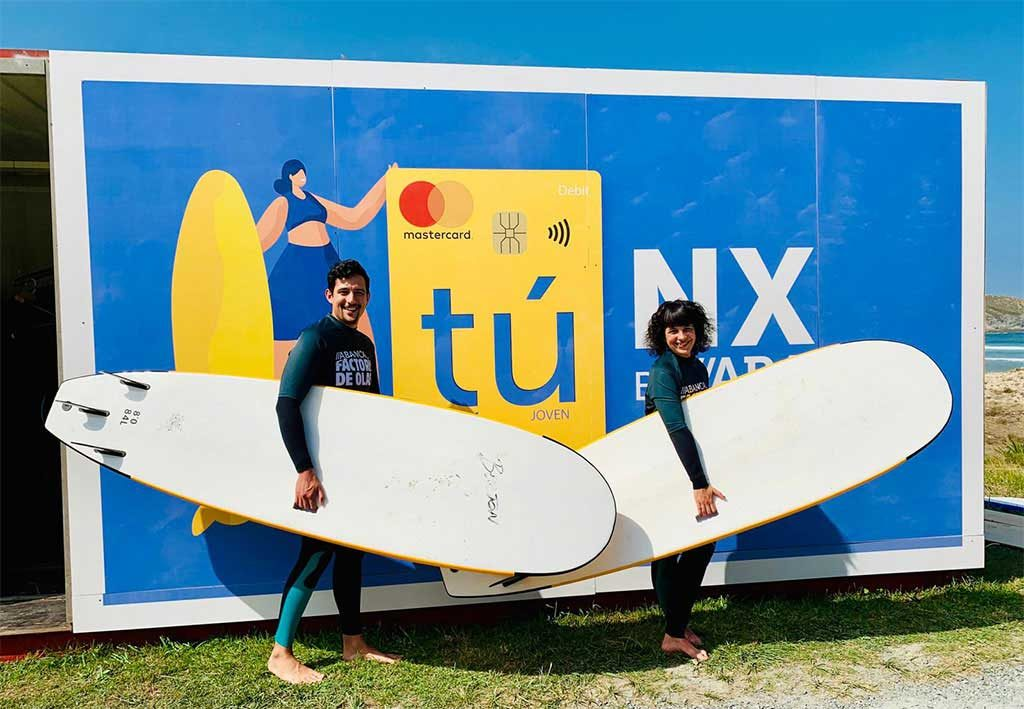 The ABANCA Surf School promotes sports practice during the event