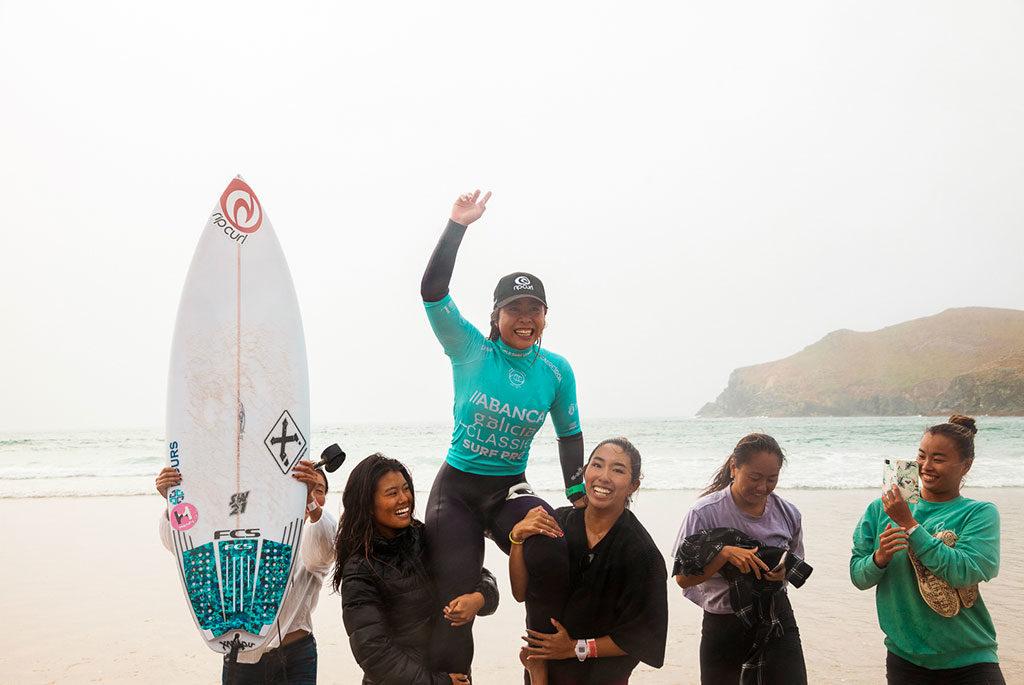A xaponesa Amuro Tsuzuki fai historia no ABANCA Galicia Classic Surf Pro