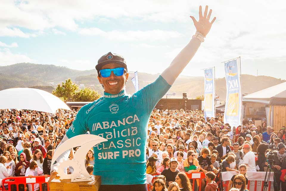 The epic ending of the ABANCA Galicia Classic Surf Pro with Miguel Pupo as the protagonist